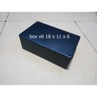 Box Project Hitam Plastik x6 18 x 11 x 6