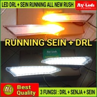 LAMPU LED ALL NEW RUSH LED DRL + RUNNING SEIN - 2 FUNCTION
