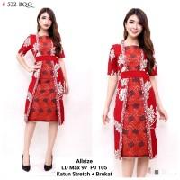 Dress Batik Kerja / Dress Wanita Kantoran / Dress Kerja Murah