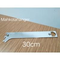 Bracket Pipa Multifungsi H30 | Daun breket pipa kotak /pipa bulat 30cm