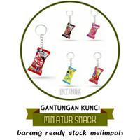grosir gantungan kunci miniatur snack murah lucu unik