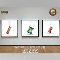 grosir magnet dan gantungan kunci miniatur snack murah lucu unik