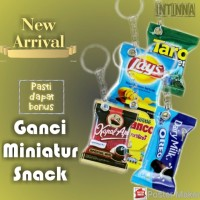 ready stock gantungan kunci miniatur snack murah lucu unik