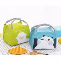 Tas Bekal Lunch Cooler Aluminium Bag Box Kotak Makan Anak Karakter