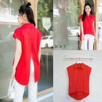 KL. Baju Lengan pendek Merah