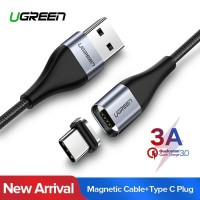 Ugreen Magnetic Cable Type C 3A - Kabel Data Tipe C 1m Fast Charge