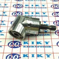 "sambungan mata obeng L sudut 1/4"" / extension screwdriver angle"