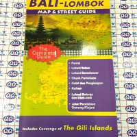 bali lombok map and street guide / include gili islands