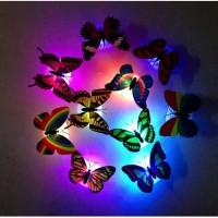 Kupu Kupu LED 3D - Tempelan Kupu Kupu LED Dekorasi - Sticker Kupu Kupu