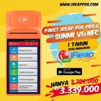 Paket Mobile iREAP POS PRO 1Thn Dengan Smart POS Printer Sunmi V1s NFC