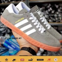 Sepatu Pria Adidas Hamburg Grade Original-Grey-Madein Vietnam