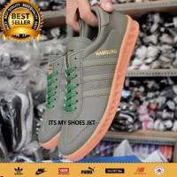 Sepatu Pria Adidas Hamburg Grade Original-hijau-Madein Vietnam