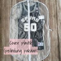 plastik/cover/sleeve/pelindung pakaian/jas/jersey basket/nba/bola