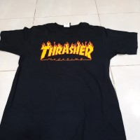 thrasher flame tee black