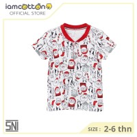 Kaos Polo Anak / Baju Natal Anak / I am Cotton Polo Shirt Santa