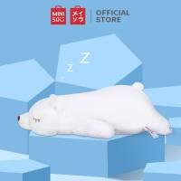 Miniso Official Boneka plush kartun Lying Polar Bear Plush Toy