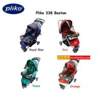 Pliko Boston PK-338 - Baby Stroller / Kereta Dorong Bayi 3 in 1