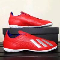 TERBARU Sepatu Adidas X 18.3 IN Actred Silver Original Sepatu Olahraga