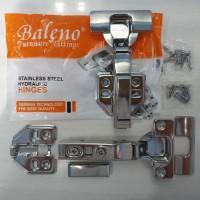 Engsel Sendok BALENO (STAINLESS STEEL) Slow Motion Soft Close Hidrolik