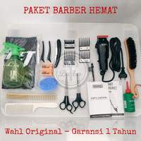 Paket Alat Cukur Rambut lengkap Home Edition Dengan Mesin Wahl Origina