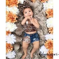 Baju Sabrina dan Celana Pendek Motif Leopard untuk Bayi Perempuan