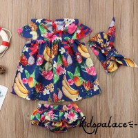 SF♫2018 Lovely Newborn Kids Baby Girl Outfit Clothes Tops Summer