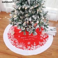 Unik Gratis Ongkir Superain 122cm Merry Christmas Tree Skirt Apron