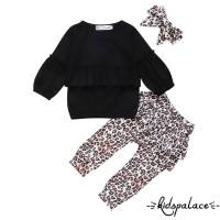➤♕❀❤Autumn Newborn Infant Baby Girl Kids Leopard Outfit