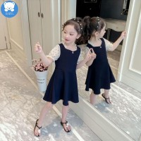 Dress Anak Perempuan korea style BABYL Summer New Lace Princess A-line