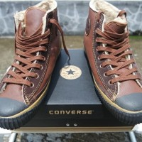 Converse Vintage Hi Brown Full Leather with Wool sz.44 Original