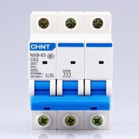 MCB 3P Chint NXB 63 6KA (6-10-16-20-25-32-40)A