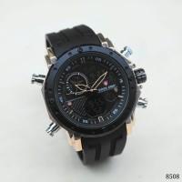 Jam Tangan Pria Swiss Army Dual Time Rubber