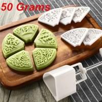 cetakan kue nastar bulan mooncake segitiga 50 gr