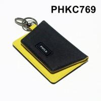dompet stnk mobil motor gantungan kunci kain dua warna - PHKC769