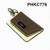 dompet stnk mobil motor gantungan kunci kain dua warna - PHKC776