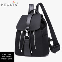 Peonia Tas Ransel Wanita Import Kantor Sekolah Kuliah Korea SUNNY Bag