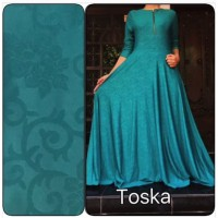 GAMIS JERSEY EMBOS GAMIS PAYUNG BUSUI TOSCA FIT L-XXL