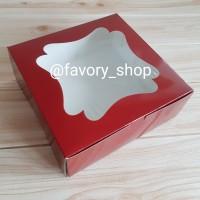 Cake Box 22 Red / Gable Box / Box Tart / Box Kue Imlek / Box CNY