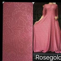 GAMIS JERSEY EMBOS BUSUI GAMIS POLOS WARNA ROSE GOLD L-XXXL