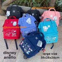NEW Anello Disney Mickey Travel Large OEM Backpack / Ransel Sekolah