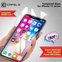 CAFELE IPHONE 11 / 11 PRO / 11 PRO MAX TEMPERED GLASS CLEAR HD - Iphone 11ProMax