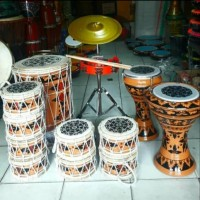 marawis batik kulit lukis lengkap 12 alat