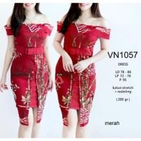 Six Colors - VN 1057 - DRESS PESTA BATIK SABRINA DRESS KANTOR BATIK