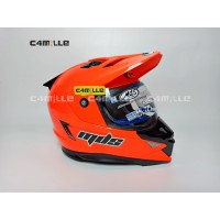 Helm MDS Super Pro Double visor Red Fluo