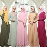 Gamis ceruty Basic Ariana by Lil Gorgeous / dress busui relpic ori