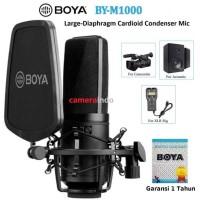 Mic BOYA BY-M1000 LARGE DIAPHRAGM CARDIOID CONDENSER XLR MIC PODCAST