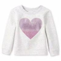 Sweater anak perempuan merk Place sisa ekspor (putih love)