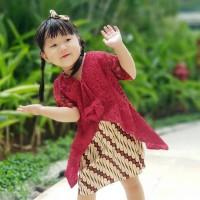 KEBAYA BROKAT ANAK | Kebaya Brokat Batik Anak | Kebaya Brokat Premium