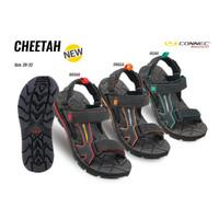 Sepatu Sendal Gunung Anak CONNEC CHEETAH Sandal Hiking for Kids - Merah, 34