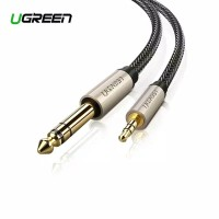 Ugreen Audio 3,5mm to 6,35mm TRS Stereo Braided 3M gray cable-10629